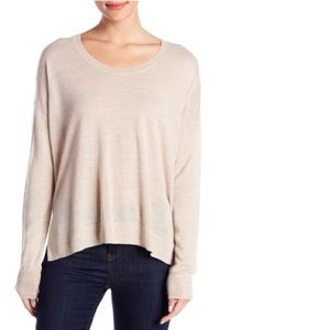 MADEWELL NWOT Southstar Pullover LG Marled Dune